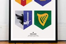 Prints of Ireland / A4 Giclee Prints of the Four Provinces Flag of Ireland. On 300gm Acid Free Woodstock Paper. Celebrate 1916 with a Symbol of Ireland and Irish Pride.  https://www.etsy.com/ie/shop/PaintedClans