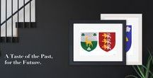 Christmas Gift Ideas / Irish Christmas Gifts handmade in Ireland. Hand painted coat of arms with a modern twist.