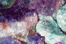Crystalline / Crystals - Minerals - Glitter - Shiny - Sparkle - Geometric - Colorful - Gem - Natural  / by Kevin & Robin -