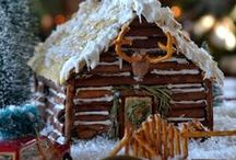 Gingerbread houses... / by Gail Napoliton Wilson