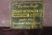 Old Furniture Labels & Ads / I love old graphics and collect woven and printed labels from furniture (and clothing - but that may be another board... or they'll morph into this one)
