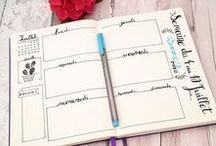 Bullet Journal / Diverses manières de personnaliser son planning perso ou bullet journal