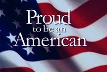 Red ~ White ~ Blue ~ / Proud to be an American. / by Karen Liana Carney