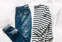 Everyday Basics / The perfect striped tee or worn denim jeans or trench coat. The fashion basics that every stylish woman needs in her closet.