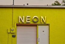 Neon Signs / This is an application of fonts design.