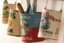 Mason Jars, tins, bottles and cans