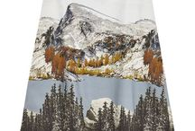 Landscapes Patterns / Here is a little selection of beautiful printed landscapes and photos on clothes