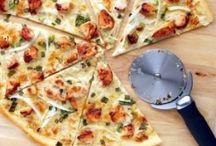 Pizza, samosas, empanadas etc.