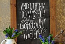 DIY Chalkboard... / by Julie Sturtevant