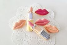 Decorated cookies, clothes, make-up and accessories