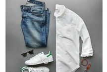 capsule wardrobe. him. / examples for how guys can build a capsule wardrobe. buy less. mix better.