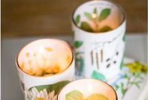 DIY candles, holders and lamps