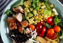 Salads - Easy Recipes and Menu Ideas / Easy recipes and menu ideas for healthy salads including main course and side dish salads, pasta salads, and salads with chicken, tuna, and more.
