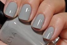 Grey nail polish / Always need more.