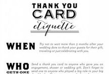 Weddings {Etiquette} / by Grace and Serendipity - Wedding Planning and Paperie Design