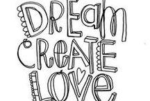 font & lettering, doodles