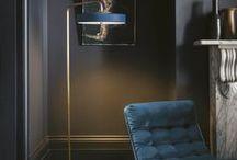 KAI Interiors || Gothic Romance / Interior Design inspiration from KAI Design, exclusively for Battersea Power Station Estates.  Moody jewel tones, velvet textures & copper accents.