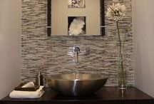 Posh Powder Room / Decor ideas to liven hall powder room / by Lisa Stec
