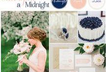 Welch Family Wedding Flower Decor Ideas / Peach and Navy wedding flower ideas with possible coral, white, cream, and green accents. / by Caren Freeman