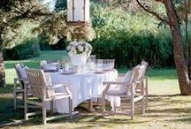 Entertaining outside: ideas / A little imagination, mood lighting, enjoy dining outside.