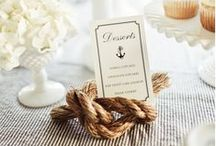 Seaside Wedding Ideas / Style your beach or nautical themed wedding with these great sea inspired touches.   / by Mill Crest Vintage