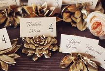 Golden Wedding Ideas / Be inspired. Vintage golden themed wedding ideas / by Mill Crest Vintage Bridal Boutique