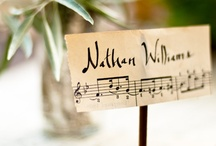 Musical Themed Wedding Ideas / Music to our ears!  Ideas for a vintage wedding theme with a musical tone.