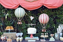 Hot Air Balloon Wedding Ideas / Getting married in a hot air balloon?  How about a hot air balloon themed reception with a touch of vintage style! / by Mill Crest Vintage
