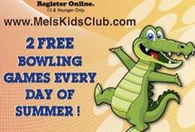 Mel's Kid's Club - Central Texas / A FREE club for kids 13 & younger that offers a FREE SUMMER OF BOWLING with 2 bowling games every day May 1st - Sept. 30th.  Plus, exclusive event access, birthday party perks and more!  Register for free at www.MelsKidsClub.com  / by Mel's Lone Star Lanes