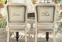 Wedding Reception Chairs / Great vintage styled chairs for your wedding reception