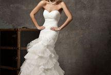 Wedding Ideas / Hair, dress, makeup and wedding decor.