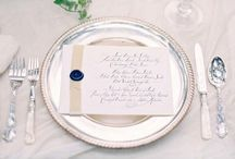 Place Settings / Unique vintage inspired place settings for your reception