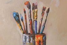 Canvas art / ::Inspiration:: What I use to inspire my paintings. / by Angela Graham Kiviniemi