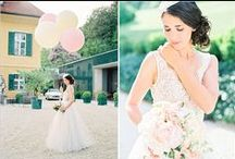 Pastel Wedding Ideas / Romantic pastel tones work beautifully with any vintage inspired wedding.