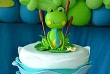 Frog Birthday Party | Frog Party | Frog Prince Baby Shower Theme / Frog Birthday Party | Frog Party | Frog Birthday Party Ideas | Frog Party Decorations | Frog Birthday | Frog Prince Baby Shower Theme | Princess and the Frog Party
