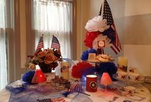 """July 4th....Happy Birthday America    / Here we share our favorite decorating ideas , table settings, foods and photographs of July 4ths past, present & future. Happy pinning ! SPAM, NUDITY ,NEGATIVITY AND PORNOGRAPHY WILL BE REMOVED   If you would like to pin on this board please go to my Facebook page, send me the message """" I want to pin"""" (you have to """"like"""" my page or your message will go to the """"spam"""" folder-Facebook-not-me)   https://www.facebook.com/glendajsworld"""