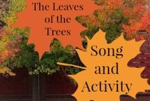 Autumn Kid's Music Activities / Autumn and fall themed kids music activities - great for music teachers, parents and home educators.