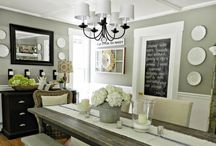 Be gone boring dining room! / I'm giving a makeover to our nondescript dining room...once I figure out what I want it to look like.  / by Cati Nelson