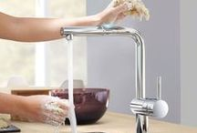 Touch and Touchless Kitchen Faucets / Stylish and oh, so functional, touch and touchless faucets help eliminate mess by eliminating the need to touch handles with messy hands!