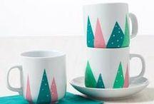 Diy mug gifts / How to decorate your (boring) mugs!