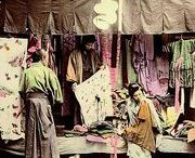 Old Japan - Kimono Textile Photography / Photographs, postcards and other images about the textile industry in Meiji and early Taisho era Japan. Inspiration and social history of textile manufacture.
