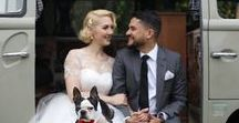 FLUFFY (four legged unconditional friends forever - yes) / We love pets on your big day. Have your puppy as the ring bearer or a llama as part of your wedding party! And the best part of wearing a tea length wedding dress - you can see your four-legged friends walking down the aisle :)