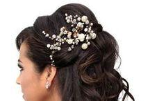 Wedding dresses and hair