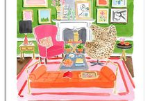 Home- Living Spaces / by Haley Kochen
