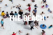 """The BEACH / Gearing up for the BEACH this summer.  Created in partnership with Snarkitecture,  the installation will cover 10,000 square feet and include an """"ocean"""" of nearly one million recyclable translucent plastic balls. Summer can't come fast enough!  / by National Building Museum"""
