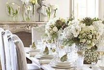 For the dining room / dining room - dining room decor - china settings - table settings - spring brunch ideas - decor ideas