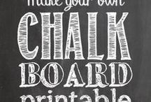 Chalkboard fonts & design