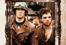 """I'm With You 'Til The End Of The Line."": Captain America & Bucky Barnes / Each Character Also Has An Individual Board"