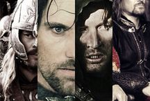 Mortal Men of Middle Earth / Other Men of Middle Earth. For any specific characters such as, Aragorn or Eomer, see their individual boards.