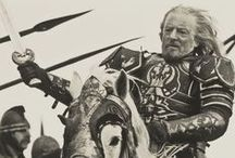Theoden: Lord of the Mark / For any other Men of Middle Earth pins such as, Aragorn or Eomer, see their individual boards.
